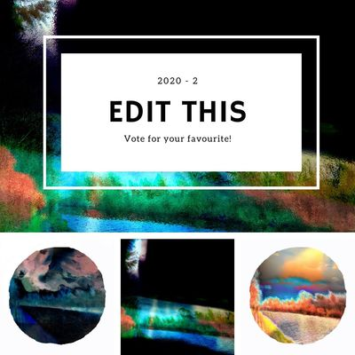 Edit this 2020 2 Waterside Abstract Landscapes